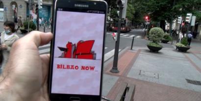 Bilbao a través de la app Bilbao Now